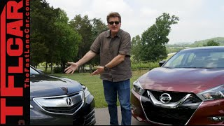 Download 2016 Nissan Maxima vs Acura TLX Mashup Review: The 4-Door Sports Car is... Video