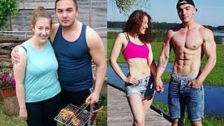 Download Couple 1 Year Transformation - Fitness, Powerlifting, Bodybuilding Video