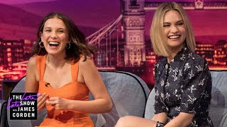 Download Millie Bobby Brown & Lily James Spice Up Their Lives - #LateLateLondon Video