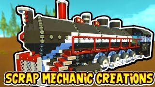 Download Scrap Mechanic CREATIONS! - CRAZY WORKING TRAIN!! [#14] W/AshDubh | Gameplay | Video