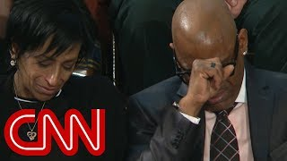 Download Parents cry as Trump pays tribute slain teens Video