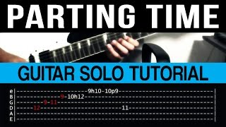Download Parting Time - Rockstar Guitar Solo Tutorial (WITH TAB) Video