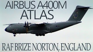 Download Airbus A400M Atlas Touch & Go, Landing & Takeoff Action | Royal Air Force Brize Norton! Video