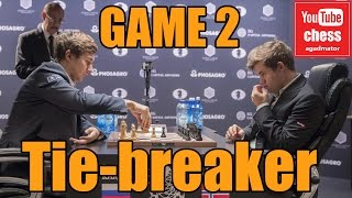 Download Magnus Carlsen vs || Sergey Karjakin World Chess Championship tie breaker || GAME 2 Video