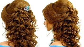 Download Romantic wedding hairstyle for long hair tutorial Video