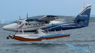 Download Beautiful Close-up Seaplane Landing - European Coastal Airlines Twin Otter Video