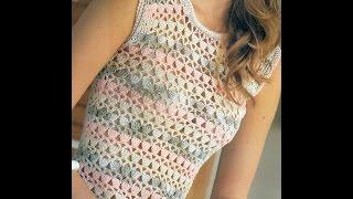 Download Patrón Para Tejer Blusa Calada Ligera a Crochet Video