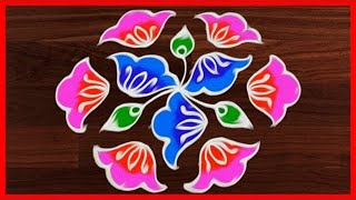 Download #288 Rangoli Art   11 to 6 Dots   Easy Rangoli Designs   Rangavalli Festival Arts Video
