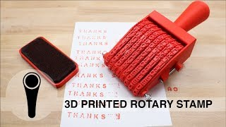 Download 3D PRINTED ROTARY STAMP Video