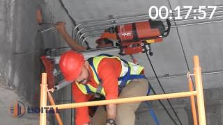 Download Perforacion en viga con equipo de diamante Hilti DD350 Video