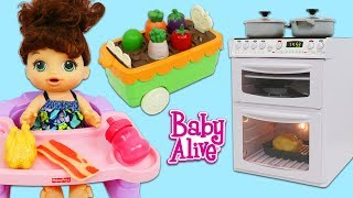 Download Cooking and Cleaning with Baby Alive and Pretend Sink & Oven Kitchen Appliance Toys! Video