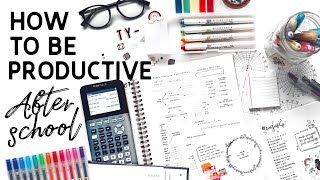 Download How To Be Productive After School // study tips + Video