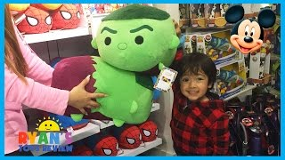 Download Disney Store Family Fun Adventure with Disney Toys Cars SuperHeroes Mickey Mouse Ryan ToysReview Video