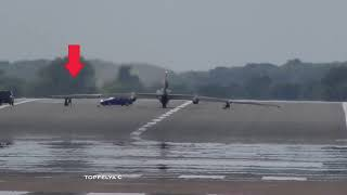 Download U2 Most difficult aircraft to land ! Spy airplane impressive soft landing and chased by powerful car Video