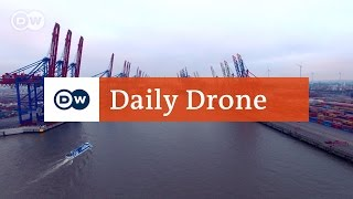Download #DailyDrone: Container port Video
