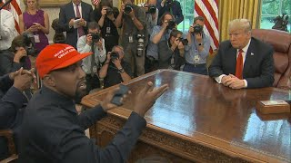 Download Kanye West steals spotlight from Trump in Oval Office Video