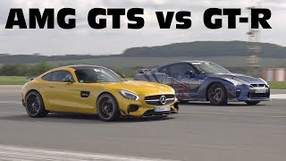 Download Mercedes-AMG GT S Edition 1 vs Nissan GT-R R35 Video