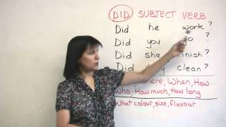 Download Basic English Grammar - Past Tense Questions Video