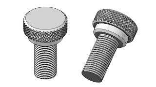 Download Making a Bolt with threads and diamond knurling Video