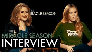 Download The Miracle Season Interview: Erin Moriarty & Danika Yarosh Video