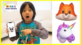 Download Funny Iphone X animojis with Ryan's Family Review Video