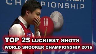 Download TOP 25 LUCKIEST SHOTS | World Snooker Championship 2016 Video