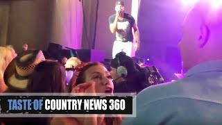 Download Luke Bryan Shut Down by Fighting Fan - Taste of Country 360 Video