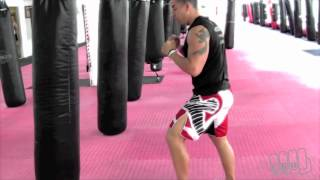 Download 3 Jabs Cross Roundhouse Kickboxing Heavy Bag Workouts with Michael Andreula Video