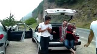 Download iranian girl is dancing in street/ Video