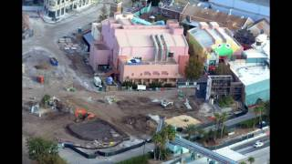 Download Aerial View of Construction of Star Wars Land & Toy Story Land - DHS Update #16 Video