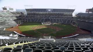 Download O.Co Stadium A's to Raiders Game Transformation - Time Lapse Video