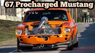 Download 67 Procharged Mustang Fastback vs Nitrous Fox at Wagoner Oklahoma street drags Video