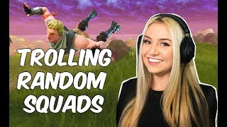 Download Pretending to be a noob in Fortnite (random squads) Video