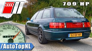 Download AUDI S2 709 HP DRAGY GPS 100-200km/h in 5.xx SECONDS! by AutoTopNL Video