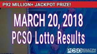 Download PCSO Lotto Results Today March 20, 2018 (6/58, 6/49, 6/42, 6D, Swertres, STL & EZ2) Video