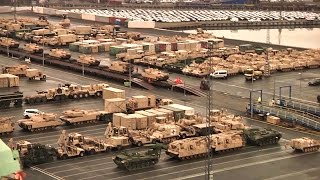Download Largest Deployment of US Armaments Since Cold War Arrives in Germany Video