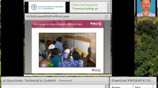 Download Participatory integrated climate services for agriculture - PICSA Peter Dorward Video