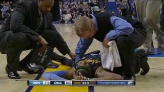 Download Carmelo Anthony Collapses and Play Goes On Video