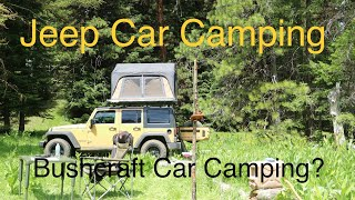 Download Jeep Wrangler Car Camping in the Ochoco Mountains - Bushcraft Car Camping? Video