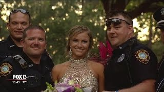Download Officers escort fallen colleague's daughter to prom Video