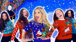 Download REBECCA ZAMOLO Christmas SWEATER Official Music Video! (Game Master Challenge) Video