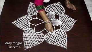 Download 5x3 dots beautiful dhanurmasam muggulu || Margazhi kolam by easy rangoli Suneetha Video