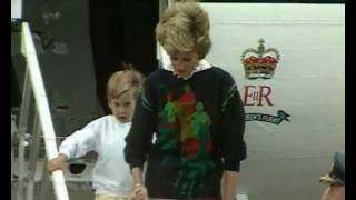 Download Princess Diana arrives in Scotland with Prince William and Prince Harry for a family holiday Video