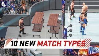 Download WWE 2K18 Top 10 New Custom Match Types Video