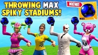 Download *NEW* SQUAD THROWS MAX SPIKY STADIUMS! - Fortnite Funny FAILS & WINS #23 Video