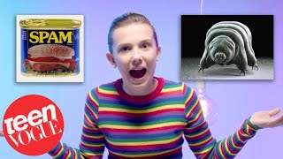 Download Millie Bobby Brown Shows Us 22 Things That Are Stranger Than Stranger Things | Teen Vogue Video