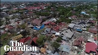 Download Indonesia tsunami: drone footage shows trail of destruction in Palu Video