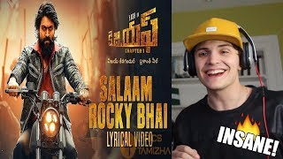 Download KGF Kannada Movie   Salaam Rocky Bhai Song   REACTION Video