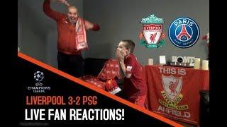 Download Liverpool vs PSG Champions League LIVE Fan Reactions! Video