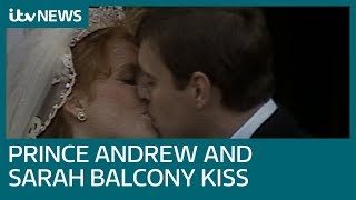 Download Prince Andrew and Sarah Ferguson's wedding day in 1986 | ITV News Video
